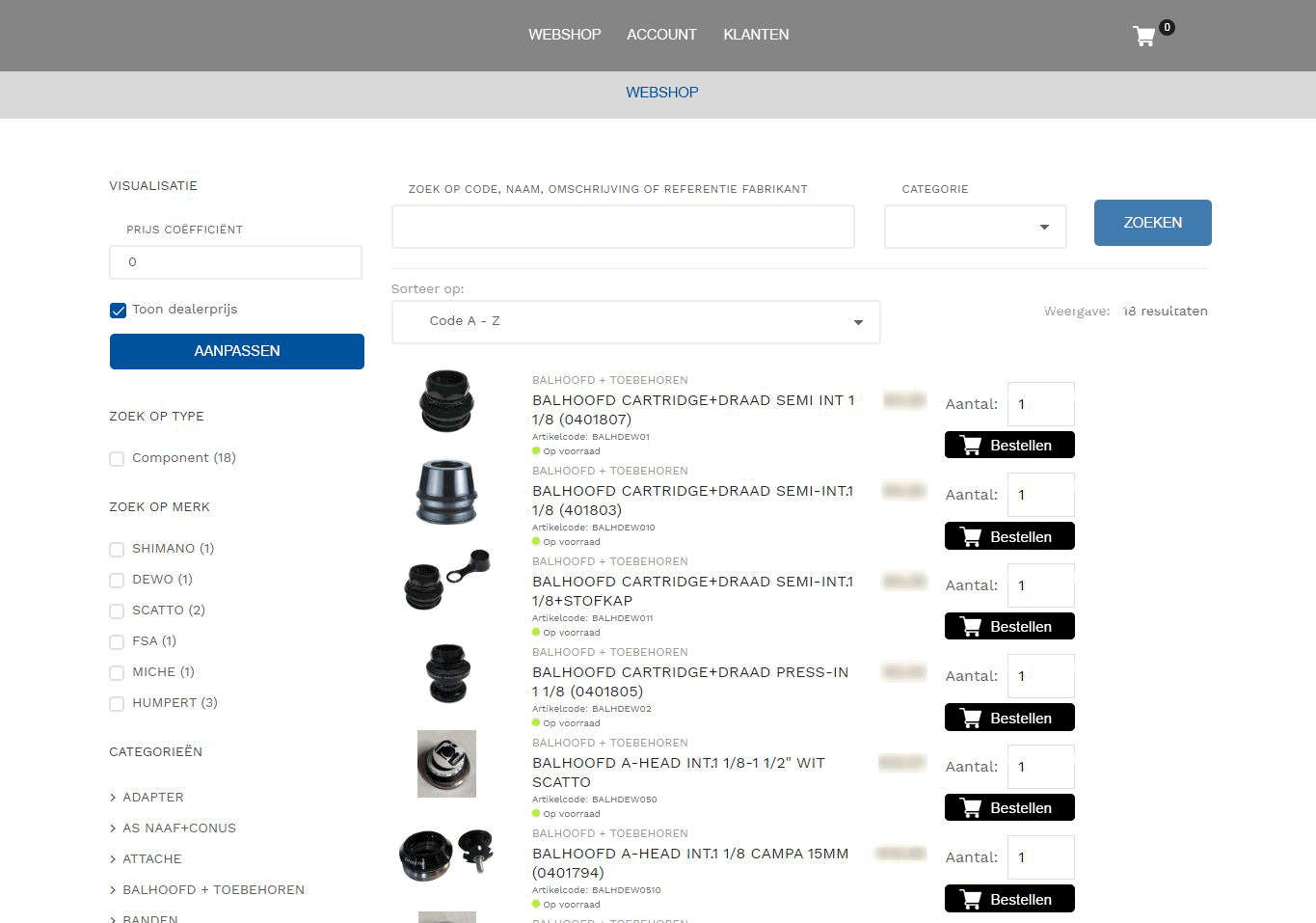 e-commerce webshop intradev software